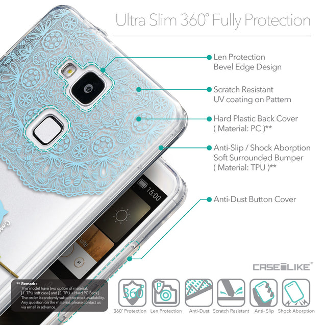 Details in English - CASEiLIKE Huawei Ascend Mate 7 back cover Owl Graphic Design 3318