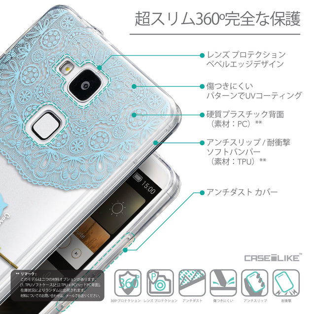 Details in Japanese - CASEiLIKE Huawei Ascend Mate 7 back cover Owl Graphic Design 3318