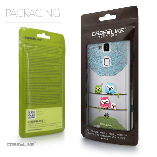 Packaging - CASEiLIKE Huawei Ascend Mate 7 back cover Owl Graphic Design 3318
