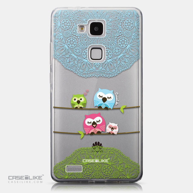 CASEiLIKE Huawei Ascend Mate 7 back cover Owl Graphic Design 3318