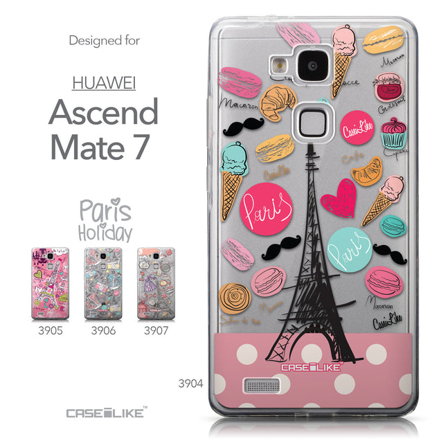 Collection - CASEiLIKE Huawei Ascend Mate 7 back cover Paris Holiday 3904
