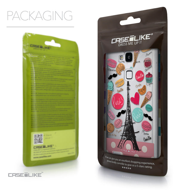 Packaging - CASEiLIKE Huawei Ascend Mate 7 back cover Paris Holiday 3904