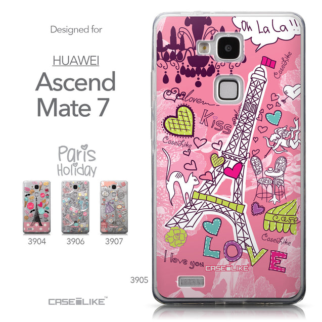 Collection - CASEiLIKE Huawei Ascend Mate 7 back cover Paris Holiday 3905