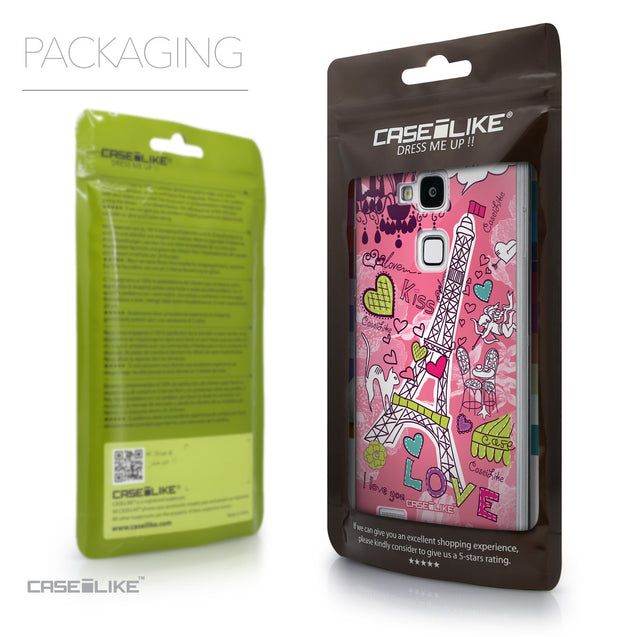 Packaging - CASEiLIKE Huawei Ascend Mate 7 back cover Paris Holiday 3905