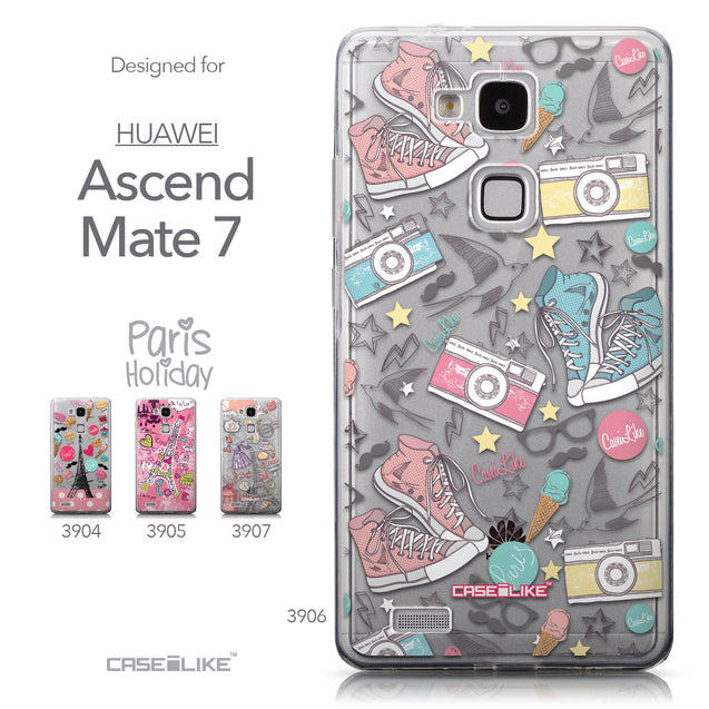 Collection - CASEiLIKE Huawei Ascend Mate 7 back cover Paris Holiday 3906