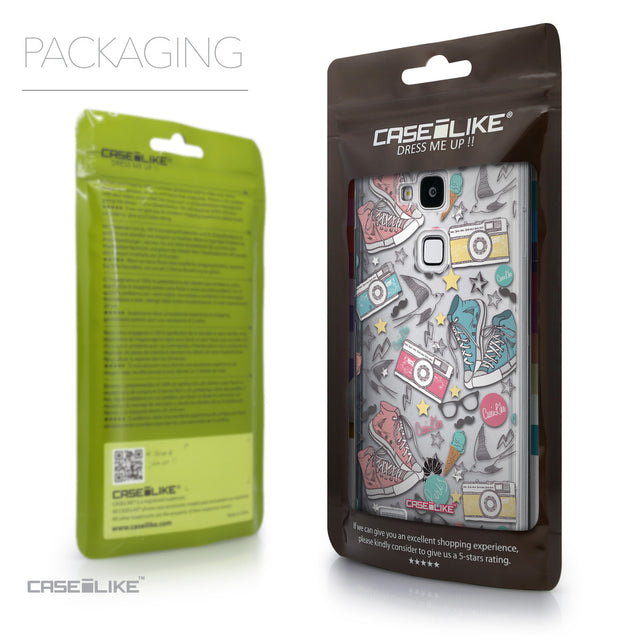 Packaging - CASEiLIKE Huawei Ascend Mate 7 back cover Paris Holiday 3906