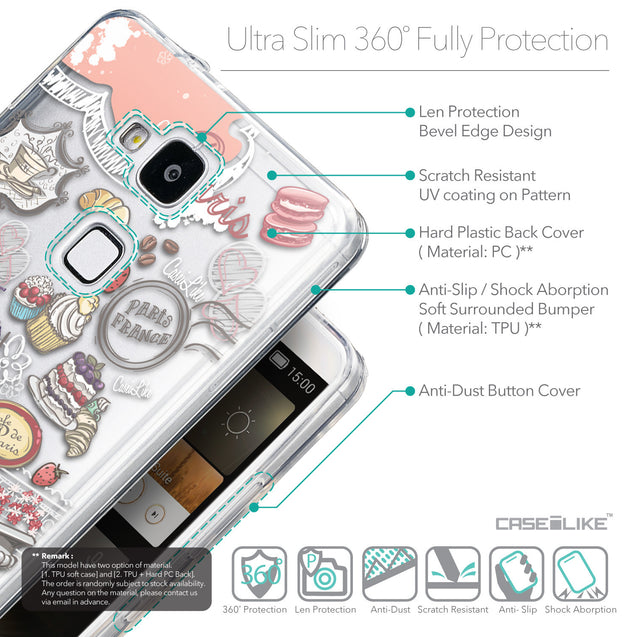 Details in English - CASEiLIKE Huawei Ascend Mate 7 back cover Paris Holiday 3907