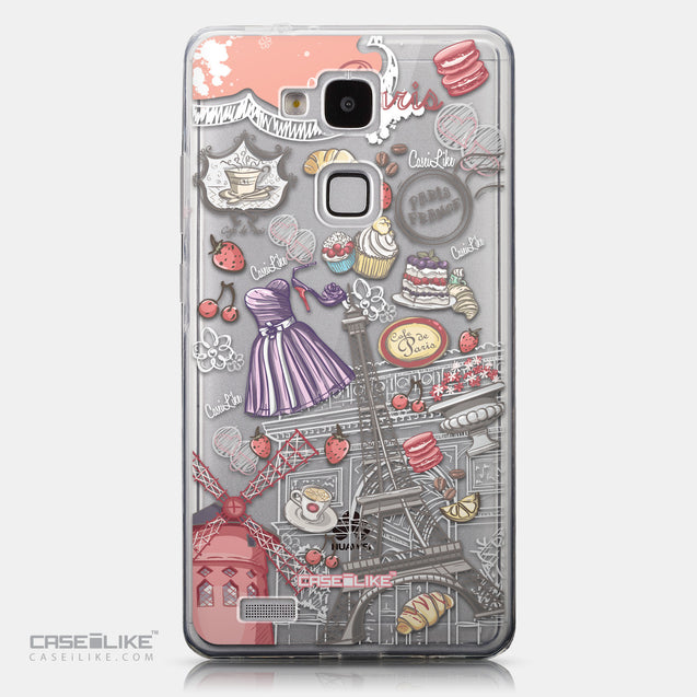 CASEiLIKE Huawei Ascend Mate 7 back cover Paris Holiday 3907