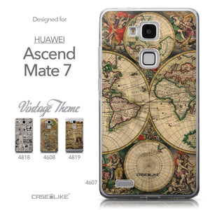 Collection - CASEiLIKE Huawei Ascend Mate 7 back cover World Map Vintage 4607