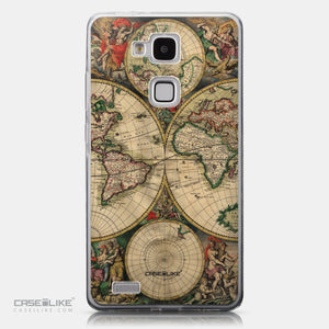 CASEiLIKE Huawei Ascend Mate 7 back cover World Map Vintage 4607