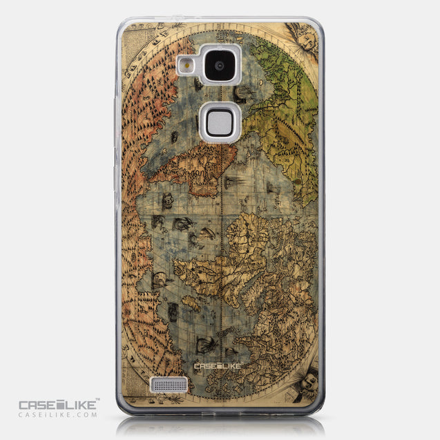 CASEiLIKE Huawei Ascend Mate 7 back cover World Map Vintage 4608