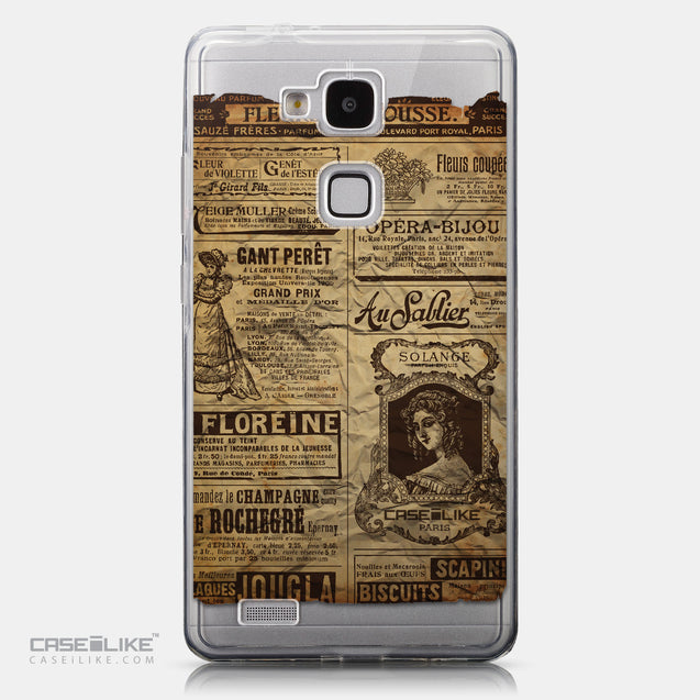 CASEiLIKE Huawei Ascend Mate 7 back cover Vintage Newspaper Advertising 4819