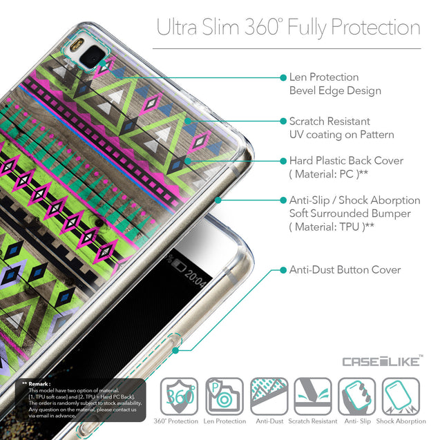 Details in English - CASEiLIKE Huawei P8 back cover Indian Tribal Theme Pattern 2049