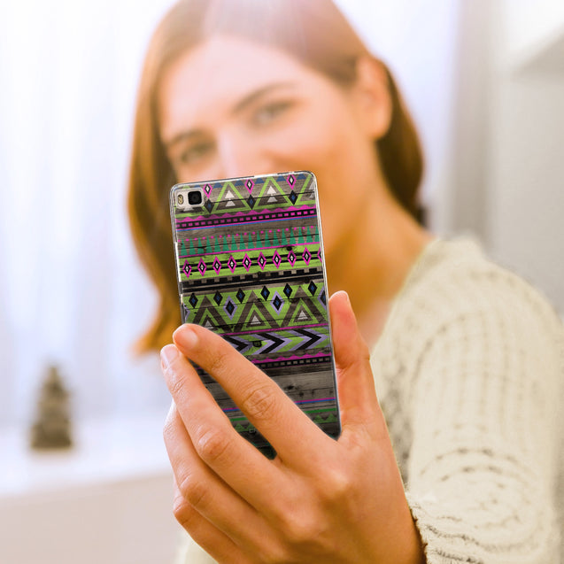 Share - CASEiLIKE Huawei P8 back cover Indian Tribal Theme Pattern 2049
