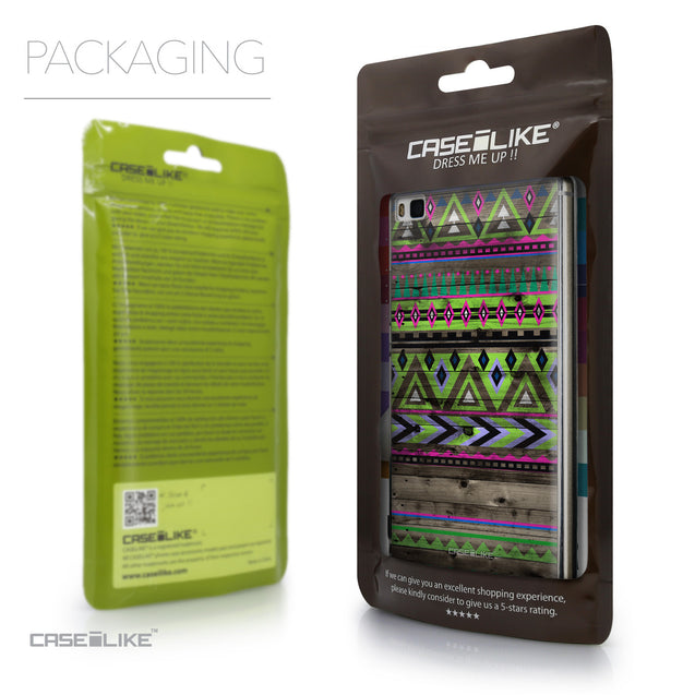 Packaging - CASEiLIKE Huawei P8 back cover Indian Tribal Theme Pattern 2049