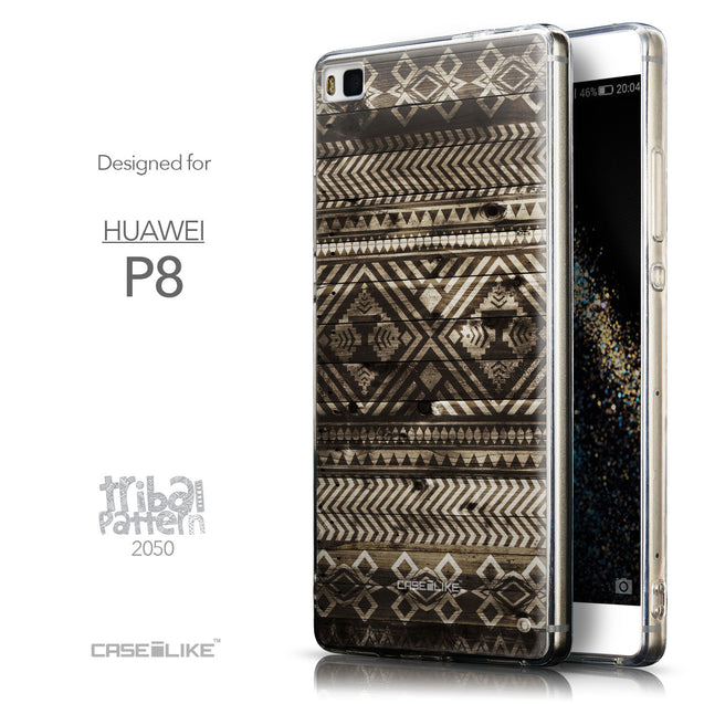 Front & Side View - CASEiLIKE Huawei P8 back cover Indian Tribal Theme Pattern 2050