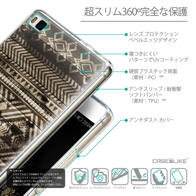Details in Japanese - CASEiLIKE Huawei P8 back cover Indian Tribal Theme Pattern 2050