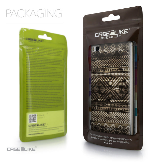 Packaging - CASEiLIKE Huawei P8 back cover Indian Tribal Theme Pattern 2050