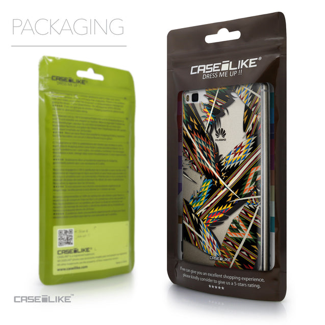 Packaging - CASEiLIKE Huawei P8 back cover Indian Tribal Theme Pattern 2053