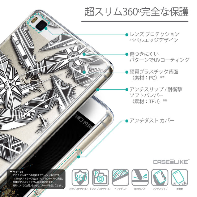 Details in Japanese - CASEiLIKE Huawei P8 back cover Indian Tribal Theme Pattern 2056