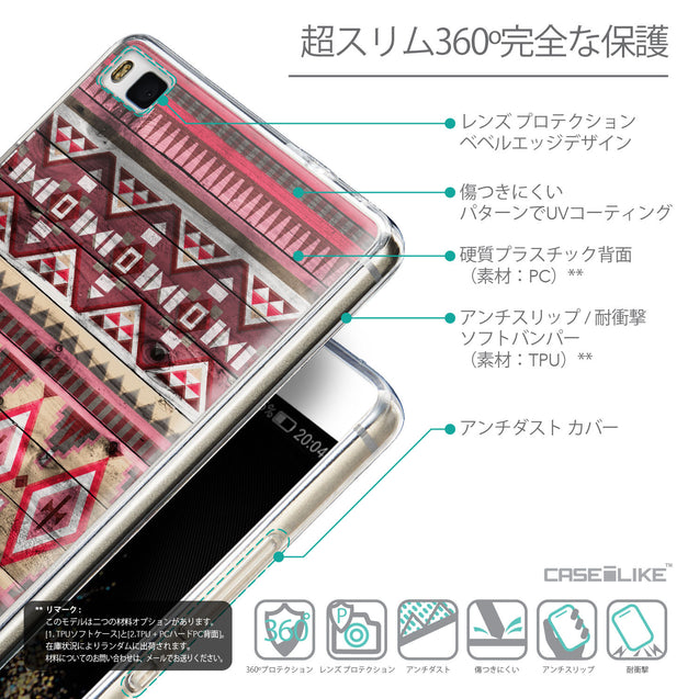 Details in Japanese - CASEiLIKE Huawei P8 back cover Indian Tribal Theme Pattern 2057