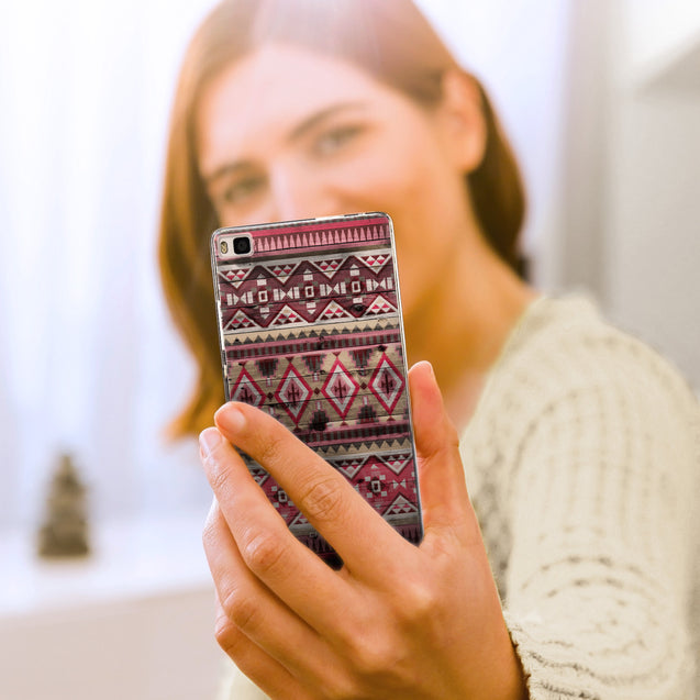 Share - CASEiLIKE Huawei P8 back cover Indian Tribal Theme Pattern 2057