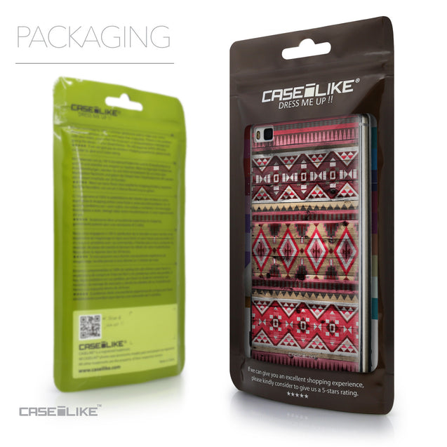 Packaging - CASEiLIKE Huawei P8 back cover Indian Tribal Theme Pattern 2057