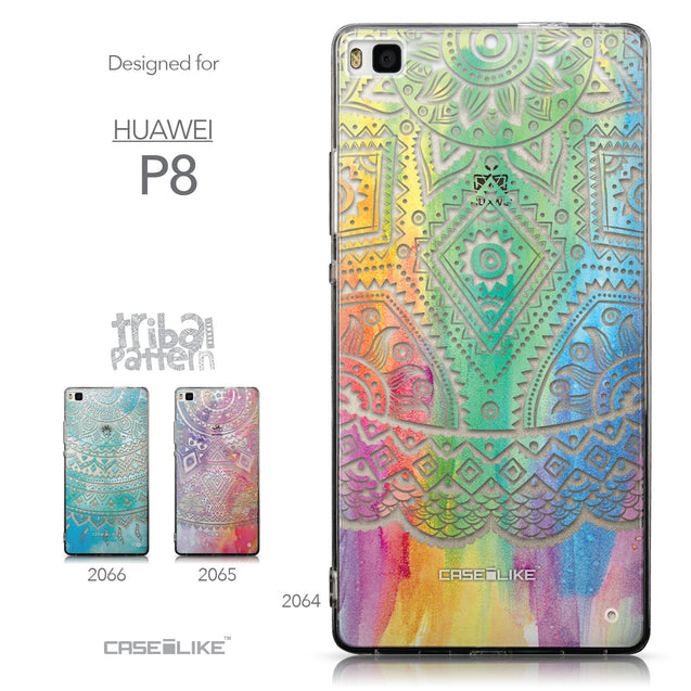 Collection - CASEiLIKE Huawei P8 back cover Indian Line Art 2064