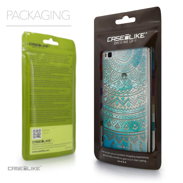 Packaging - CASEiLIKE Huawei P8 back cover Indian Line Art 2066