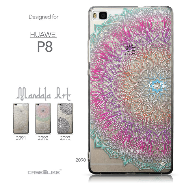 Collection - CASEiLIKE Huawei P8 back cover Mandala Art 2090