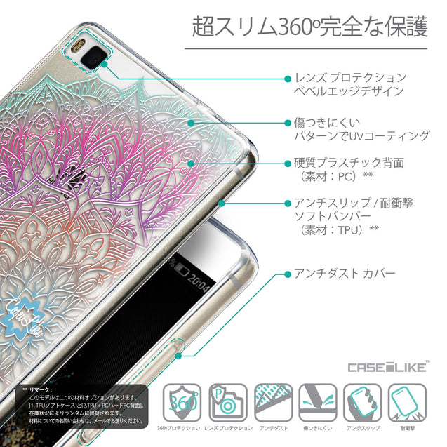 Details in Japanese - CASEiLIKE Huawei P8 back cover Mandala Art 2090