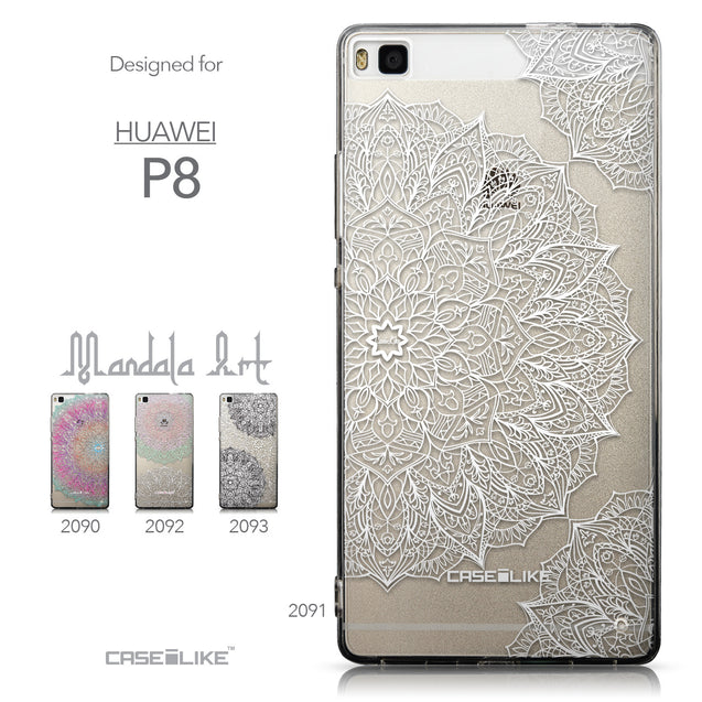 Collection - CASEiLIKE Huawei P8 back cover Mandala Art 2091