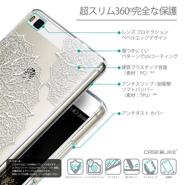 Details in Japanese - CASEiLIKE Huawei P8 back cover Mandala Art 2091