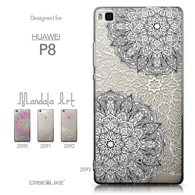 Collection - CASEiLIKE Huawei P8 back cover Mandala Art 2093