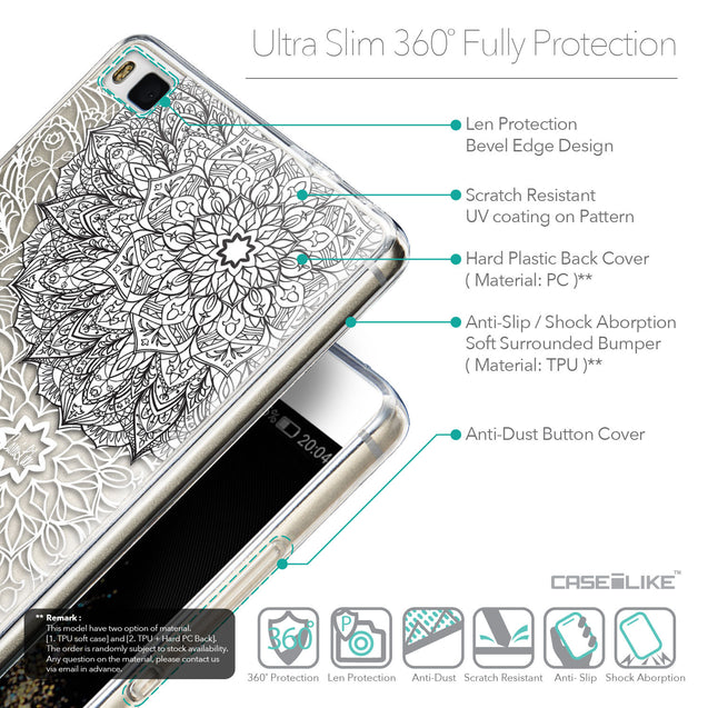 Details in English - CASEiLIKE Huawei P8 back cover Mandala Art 2093