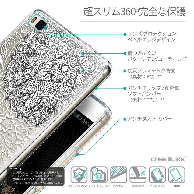 Details in Japanese - CASEiLIKE Huawei P8 back cover Mandala Art 2093