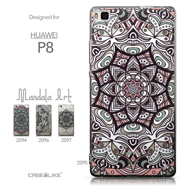 Collection - CASEiLIKE Huawei P8 back cover Mandala Art 2095