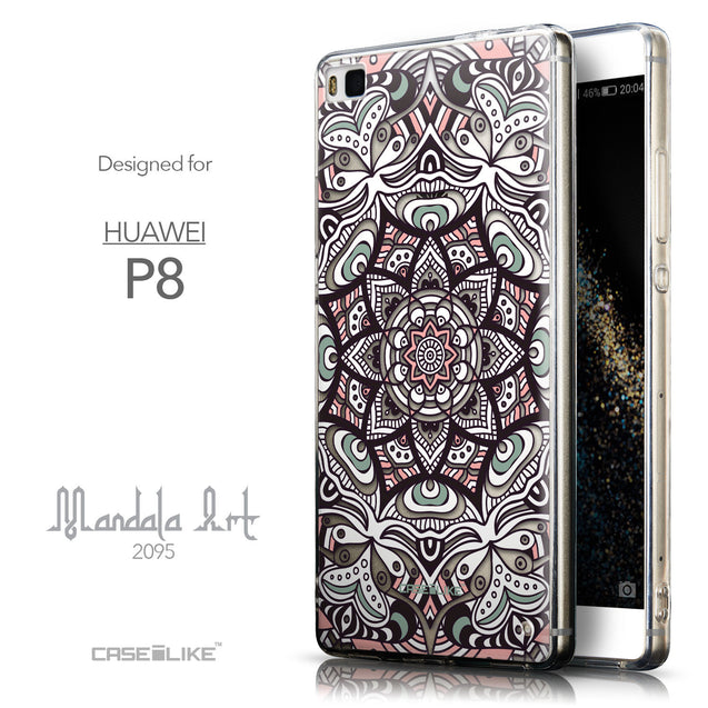 Front & Side View - CASEiLIKE Huawei P8 back cover Mandala Art 2095