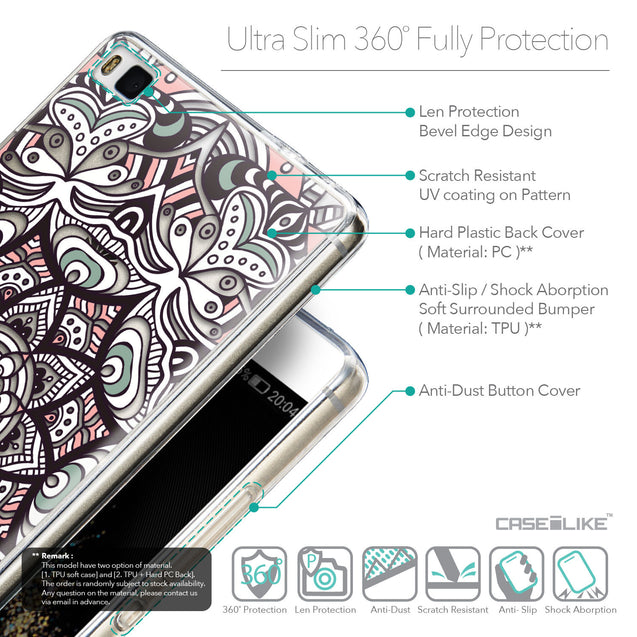 Details in English - CASEiLIKE Huawei P8 back cover Mandala Art 2095