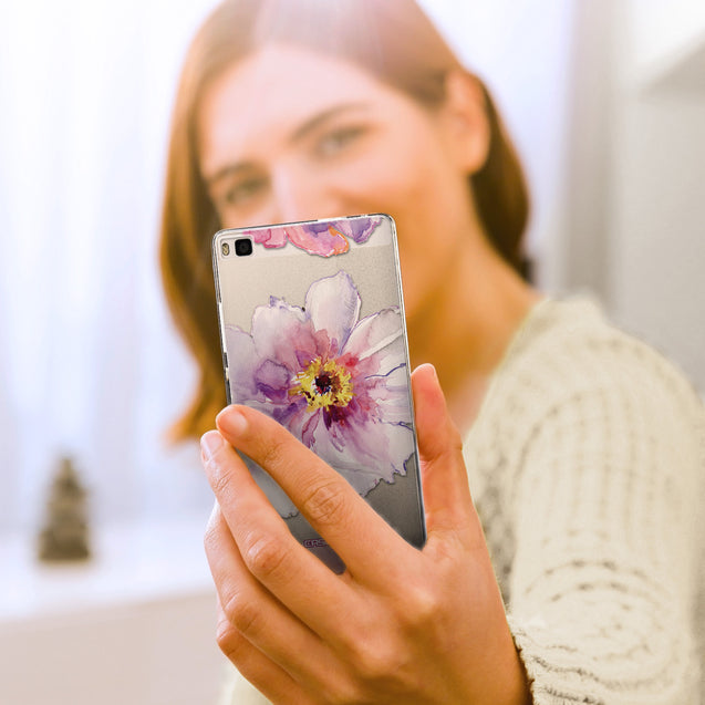 Share - CASEiLIKE Huawei P8 back cover Watercolor Floral 2231