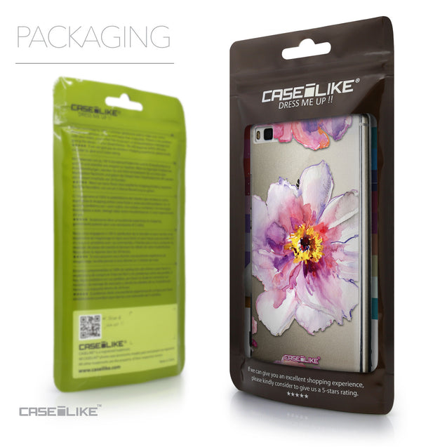 Packaging - CASEiLIKE Huawei P8 back cover Watercolor Floral 2231