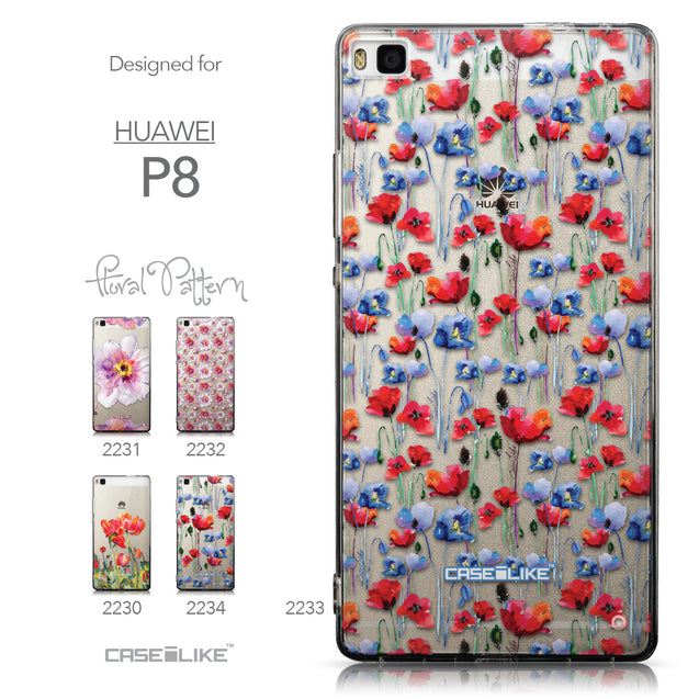 Collection - CASEiLIKE Huawei P8 back cover Watercolor Floral 2233