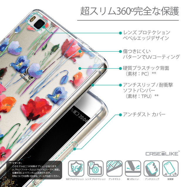 Details in Japanese - CASEiLIKE Huawei P8 back cover Indian Line Art 2061
