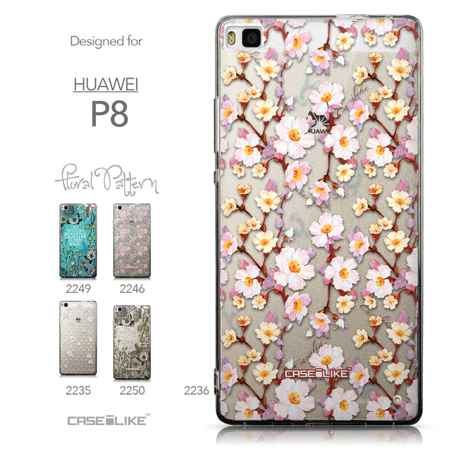 Collection - CASEiLIKE Huawei P8 back cover Watercolor Floral 2236