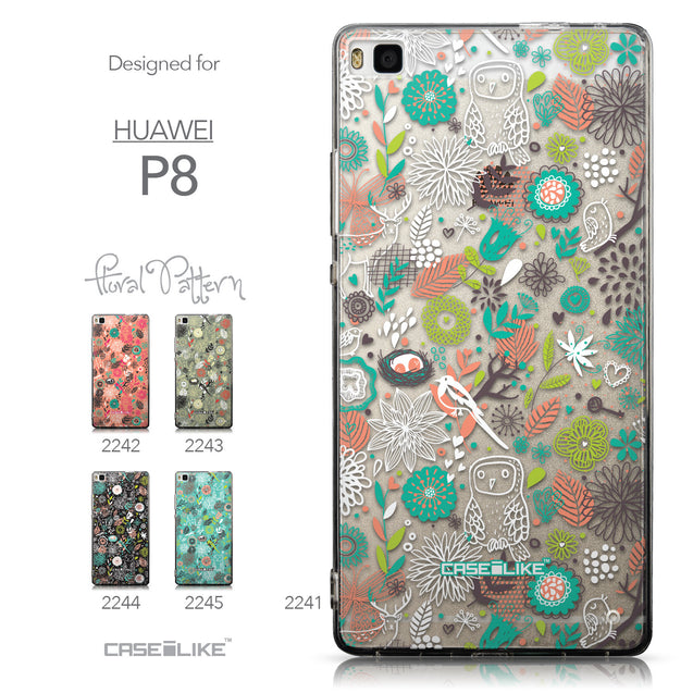Collection - CASEiLIKE Huawei P8 back cover Spring Forest White 2241