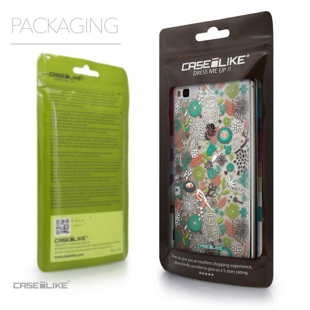 Packaging - CASEiLIKE Huawei P8 back cover Spring Forest White 2241