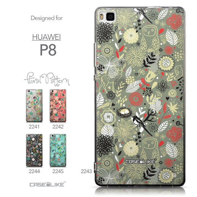 Collection - CASEiLIKE Huawei P8 back cover Spring Forest Gray 2243