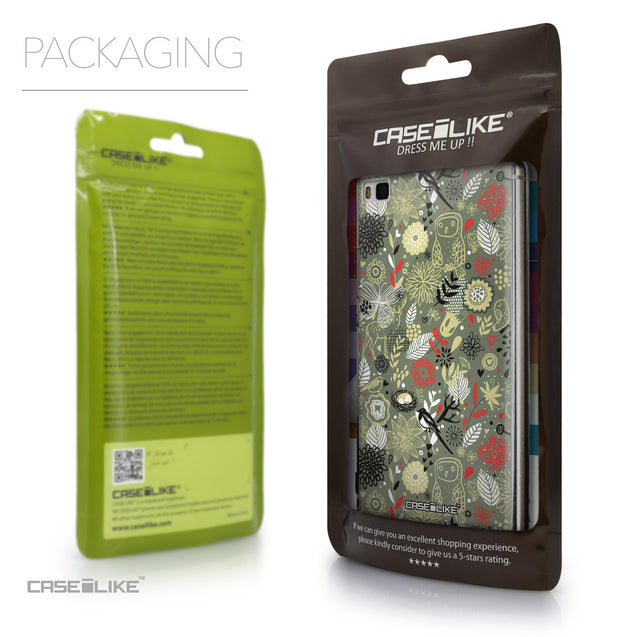 Packaging - CASEiLIKE Huawei P8 back cover Spring Forest Gray 2243