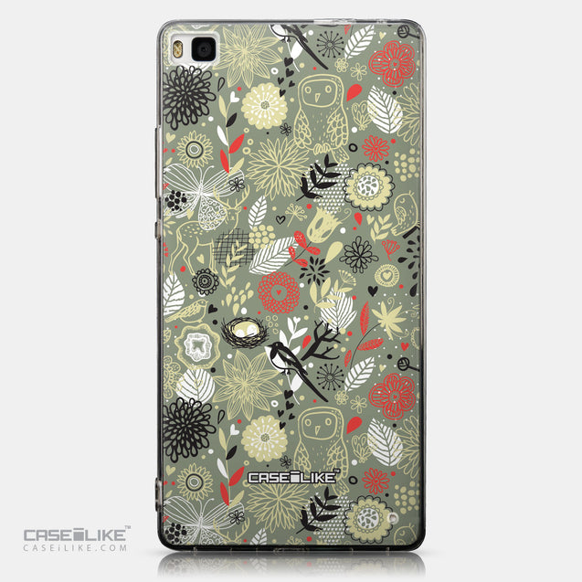 CASEiLIKE Huawei P8 back cover Spring Forest Gray 2243