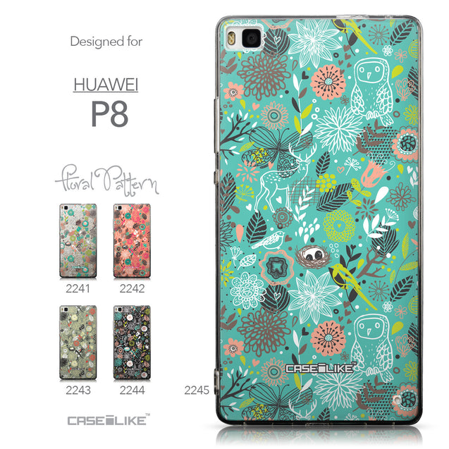 Collection - CASEiLIKE Huawei P8 back cover Spring Forest Turquoise 2245